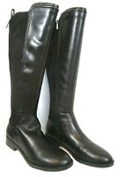 Marc Fisher Leather Tall Shaft Boots Black 9M Shiane Regular Calf A371534 BR63
