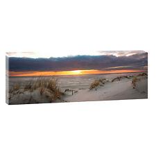 Sonnenuntergang Panorama Bild Wandbild Fotoleinwand Poster 120 Cm*40 Cm 483