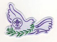Scouts Dove of Peace Embroidered Festive Badge