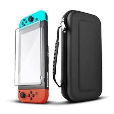 Nintendo Interruptor Consola Negro Bolsa de Viaje Funda & Vaso Protector