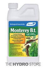 Monterey B.T. 1 Quart - Bacillus Thuringiensis Organic Insect Pest Control qt Bt