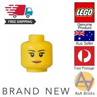Genuine LEGO® Minifigure - Woman/Girl/Female Head - MOC Part/Piece - FREE POST
