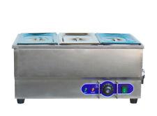 6 3 Pot Electric Food Warmer Bain Marie Buffet Equipment Stainless Steel