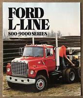 1982 Ford L-Line 800-9000 Series original American sales brochure (12/81)