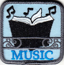 """MUSIC""  Iron On Embroidered Patch Song Dance Musical Songs"