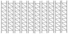(Lot of 10) ROHN 25G 10' Tower Section - Standard 25G Tower Sections