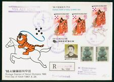 Mayfairstamps Korea 1988 Olympics Equestrian Cancels Registered cover wwp1137