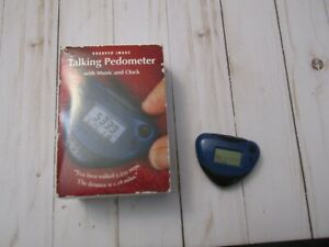 P SHARPER IMAGE  EB 300 Talking Pedometer with Music and Clock