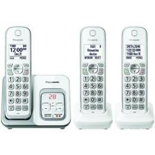 Panasonic Kx-tgd533w Cordless Phone Three Handset Telephone KXTGD533W