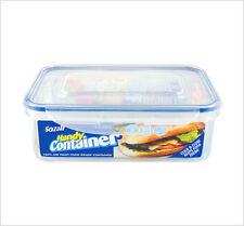 4x Clip Cerradura contenedor hermético Recta Cocina Almacenamiento de Alimentos Zoom 1.5L caja de plástico