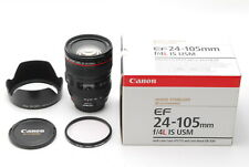 MINT with BOX CANON EF 24-105mm F4L IS USM Lens MF SLR 35mm from Japan