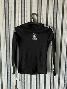 Assos SkinFoil Spring/Fall cycling jersey Long sleevs Men's Size 2 Black therma