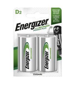 Energizer D Recharge Power Plus 2 Pack