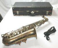 Trebor Alto Saxophone With Case Vintage Stenciled Saxophone