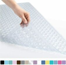 Grip Bath Shower Tub Mat Machine Washable, Antibacterial, Latex, Drain Holes
