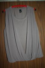 Damen Top Shirt Tunika Bluse Größe 44 B.C. khaki / beige ärmellos