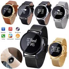 Bluetooth Smart Watch Heart Rate Sleep Monitor for Samsung S9 iphone X XS Huawei