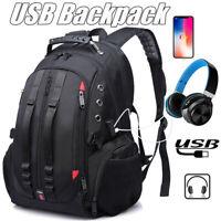 Large Capacity Men Oxford Laptop Backpack School Bag Travel Rucksack  !