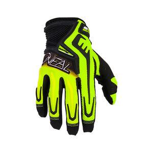 O'neal Reactor MTB DH FR Mountain Bike Full Finger Glove Neon Yellow Size L