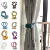 Home Magnetic Strap Multifaceted Ball Curtains Buckles Fashion Tie-Backs Holder