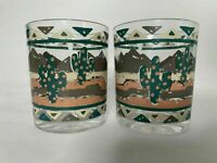 Vintage Stotter Acrylic Plastic Desert Cactus Juice Cups Tumblers Set of 2