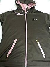 HABIT - Women's Brown Full Zip Hooded L/G Polyester Jacket - Camouflage Trim