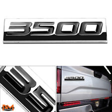 """3500""Polished Metal 3D Decal Black Emblem Exterior Sticker For Chevrolet/GMC"