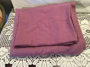 Full Flat Sheet And Standard Pillow Case,  Purple Solid Color, Cotton Blend