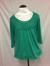 Millers green knit top size 14