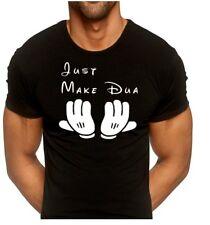 JUST MAKE DUA T SHIRT MUSLIM islam islamic allah Salaam Disney mens T-shirt New