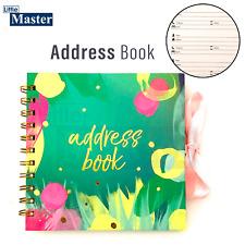 """Address books A5 """"Printed Linen"""" Address Book Beautiful Design & A5 Notebook"""
