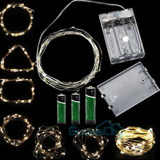 Warm White 10M/33FT 100 LED Copper Wire LED String Fairy Lights Lamp+ DC Adapter