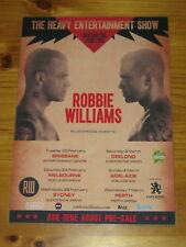 ROBBIE WILLIAMS - 2018 AUSTRALIA - HEAVY ENTERTAINMENT TOUR POSTER - LAMINATED.