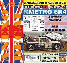 ANEXO DECAL 1/24 MG METRO 6R4 ROTHMANS J.MCRAE CIRCUIT OF IRELAND 1986 (02)