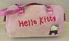 HELLO KITTY Pink Furry Shoulder/Handbag With Pink Metallic Trim