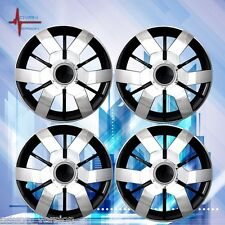 "14"" Hub Caps Wheel Cover Skin ABS 4 Piece Set WJ-5067-CBL-14'' Chrome Black Lacq"