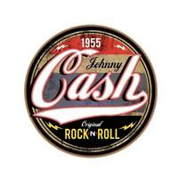 Johnny Cash Rock Roll Circle Decal Vinyl Sticker 4 Stickers