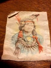"1900 Native American Tobacco Silk Cigarettes 4 3/4"" by 5 1/2"" NICE !"