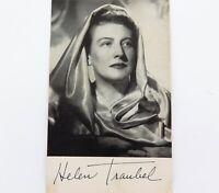 .c1940s AMERICAN OPERATIC & CONCERT SINGER HELEN TRAUBEL HANDSIGNED CARD.