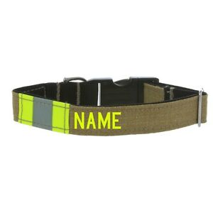 Firefighter Dog Collar made from Repurposed Turnout Material with Metal Buckle