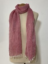 COLOMBO PINK SCARF 100% WOOL SOLID 80''/19'' EXCELLENT CONDITION