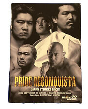 PRIDE FC 22 Official Event Program UFC /MMA JAPAN rampage Jackson Collectible