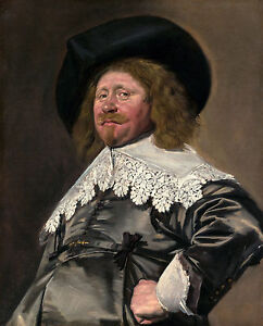 Frans Hals - Claes Duyst van Voorhout, 1638, Art Poster, Museum Canvas Print