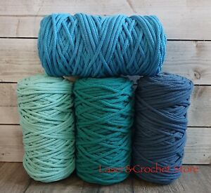 5mm Braided Cotton Cord, Rope, Macrame.