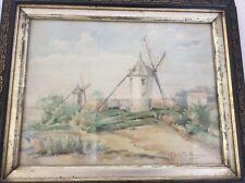 Claudia BRET-CHARBONNIER (Lyon 1863-1951) - Les 2 moulins