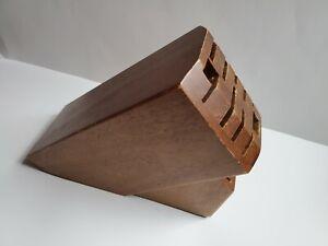 ZWILLING J.A. HENCKELS 16-Slot Natural Wood Knife Block
