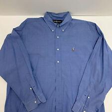 Ralph Lauren 17/35 Men's Shirt Button Drown Long Sleeve