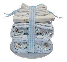 Nappy Stack Baby Boy Nappy Cake Blue - Baby Shower Gift