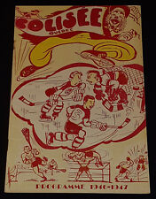 1946/47 - QUEBEC ACES - QSHL - OTTAWA SENATORS - HOCKEY PROGRAM - ORIGINAL