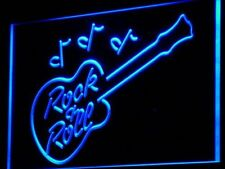 i763-b Rock and Roll Guitar Music Bar Neon Light Sign